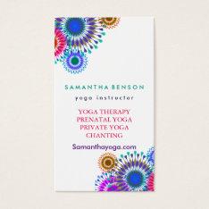 Elegant Logo Yoga Meditation Business Card at Zazzle