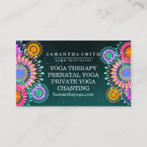 Elegant Logo Yoga Meditation Lotus Flowers Business Card