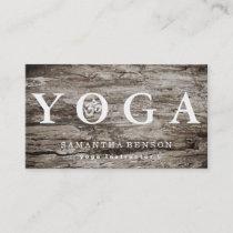 Elegant Logo Yoga Meditation Wood Business Card