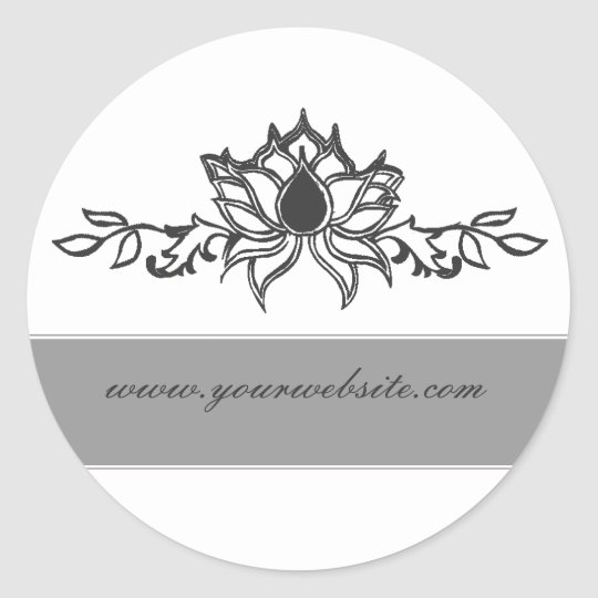 Elegant  lotus Flower Classic Round Sticker