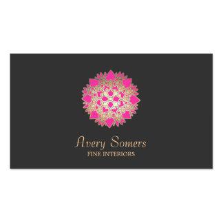 Elegant Lotus Flower Interior Designer Business Business Card