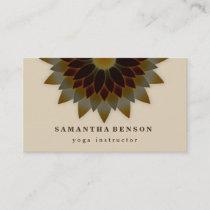 Elegant Lotus Flower Logo Yoga Business Card