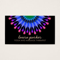 Elegant Lotus Flower Logo Yoga Healing Health Business Card