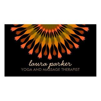 Elegant Lotus Flower Logo Yoga Healing Health Double-Sided Standard Business Cards (Pack Of 100)