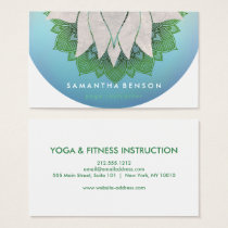 Elegant Lotus Flower Mandala Logo Yoga Business Card