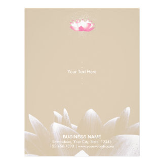 Elegant Lotus Flower Salon & Spa Flyer