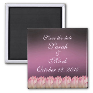 Elegant Lotus Flower Save The Date Wedding Magnet