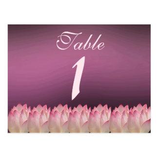 Elegant Lotus Flower Wedding Table Postcard