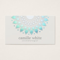 Elegant Lotus Holistic Spa and Beauty Business Card at Zazzle
