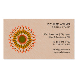 Elegant Lotus Logo Floral Wood Health Wellness Double-Sided Standard Business Cards (Pack Of 100)