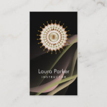 Elegant Lotus Logo Simple Floral Health Healing Business Card