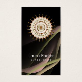 Elegant Lotus Logo Simple Floral Health Healing Business Card