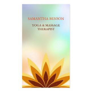 Elegant Lotus Logo Yoga Healing Health Meditation Business Card