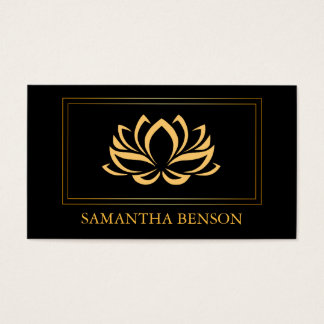 Elegant Lotus Logo Yoga Healing Health Meditation Business Card