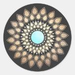 Elegant Lotus Mandala Logo Holistic Healer Classic Round Sticker