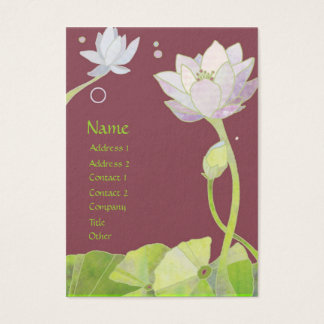 Elegant Lotus Massage Therapy Business Cards