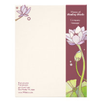 Elegant Lotus Spa or Fashion Business Letterhead