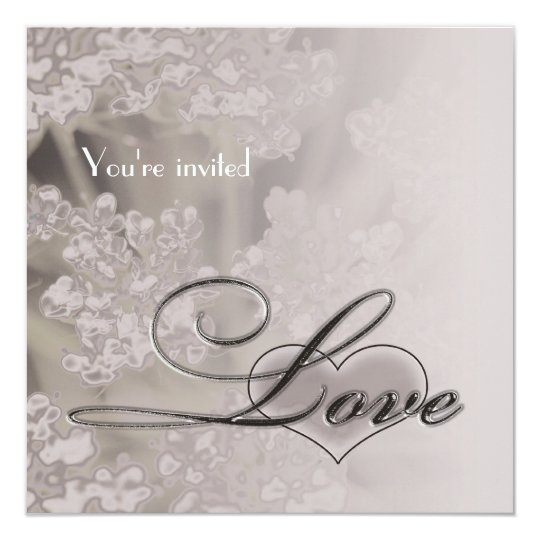 Elegant Love Bridal Shower Invitation