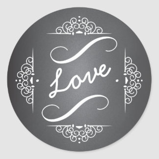 Elegant Love Chalkboard Envelope Seal Sticker