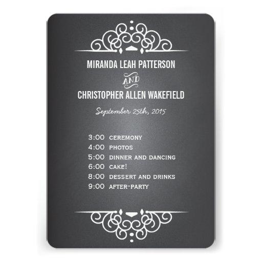 Elegant Love Chalkboard Program | Menu Card
