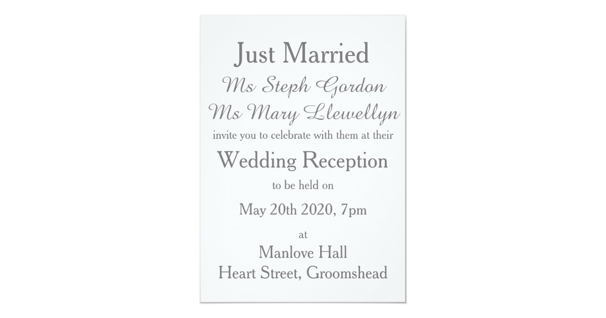 Gay Marriage Wedding Invitations: Elegant Love Dove Gay Wedding Reception Invitation