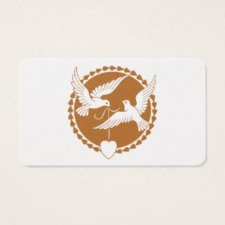 Elegant Love Doves Gay Wedding Business Card Pack
