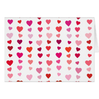 Elegant love of hearts of the day of San Valentin Card