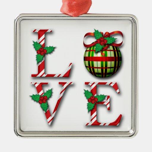 Elegant Love  Plaid Xmas Tree Decoration Christmas Tree Ornament