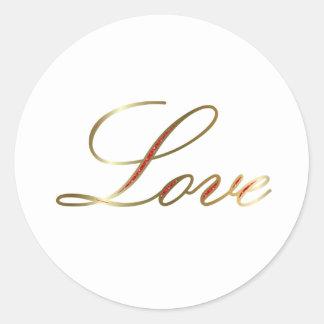 elegant love classic round sticker