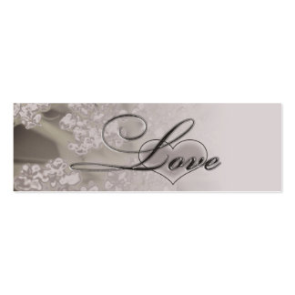 Elegant Love Wedding Website Information Cards Double-Sided Mini Business Cards (Pack Of 20)