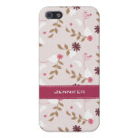 Elegant & Lovely Floral with Custom Name | Case For iPhone 5