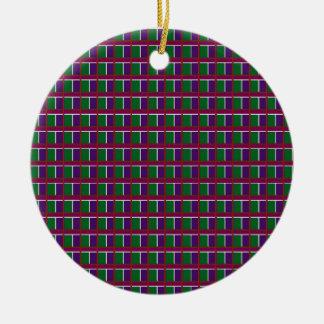 Elegant LOW PRICE Checks Holy Purple Greetings FUN Ornament