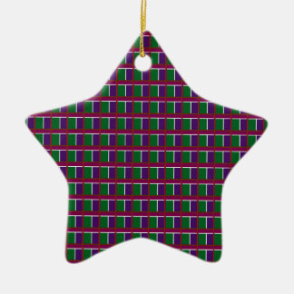 Elegant LOW PRICE Checks Holy Purple Greetings FUN Christmas Ornament