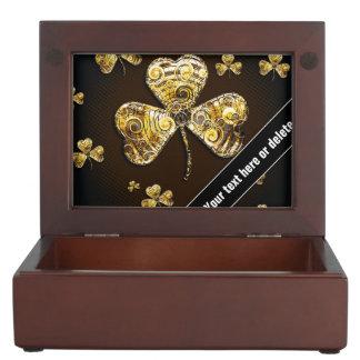 Elegant Lucky Clover Keepsake Box