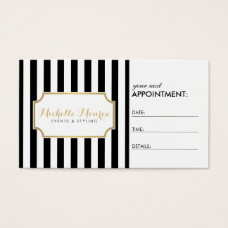 Elegant Luxe Bold Stripes Appointment Card