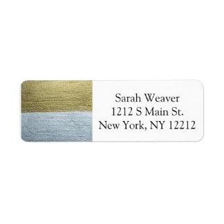 Elegant Luxurious Faux Gold & Silver Paint Strokes Label