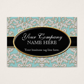 Elegant Luxurious Modern Damask Swirl Floral Style Business Card