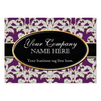 Elegant Luxurious Modern Damask Swirl Floral Style Business Cards