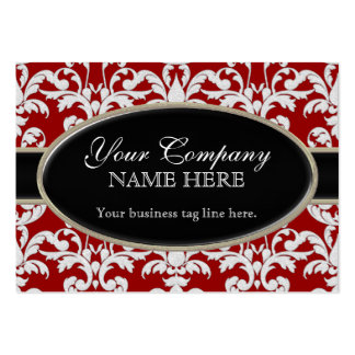 Elegant Luxurious Modern Damask Swirl Floral Style Large Business Cards (Pack Of 100)