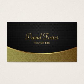 Elegant Luxury Black and Gold Damask Business Card