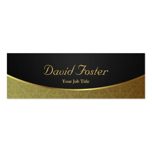 Elegant Luxury Black and Gold Damask Business Card Templates