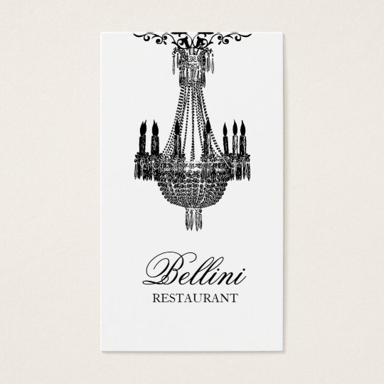Elegant Luxury Black and White Design Business Card