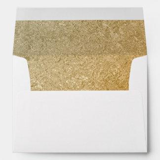 Elegant Luxury   Faux Gold Foil 5 X 7 Wedding Envelope