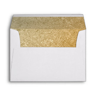 Elegant Luxury | Faux Gold Foil 5 X 7 Wedding Envelope
