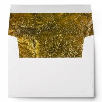 Elegant Luxury   Faux Gold Leaf Foil 5 X 7 Wedding Envelope