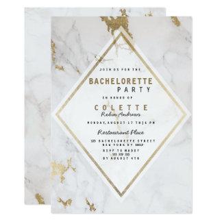 Elegant luxury faux gold marble Bachelorette Card