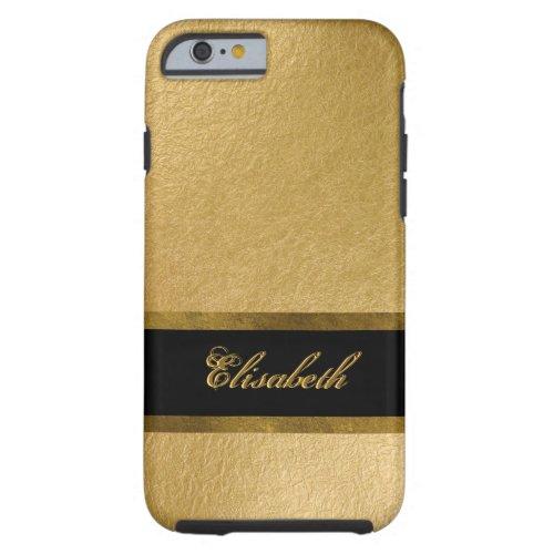 Elegant Luxury Gold Leaf 3D Custom Monogram Phone Case