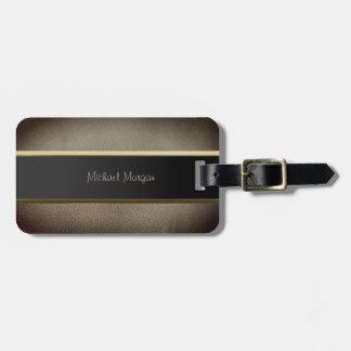 Elegant Luxury ,Leather Look Luggage Tag