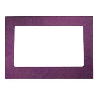 Elegant Luxury Purple Vintage Grunge Damask Magnetic Frame