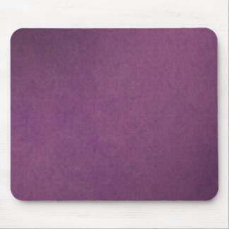 Elegant Luxury Purple Vintage Grunge Damask Mouse Pad